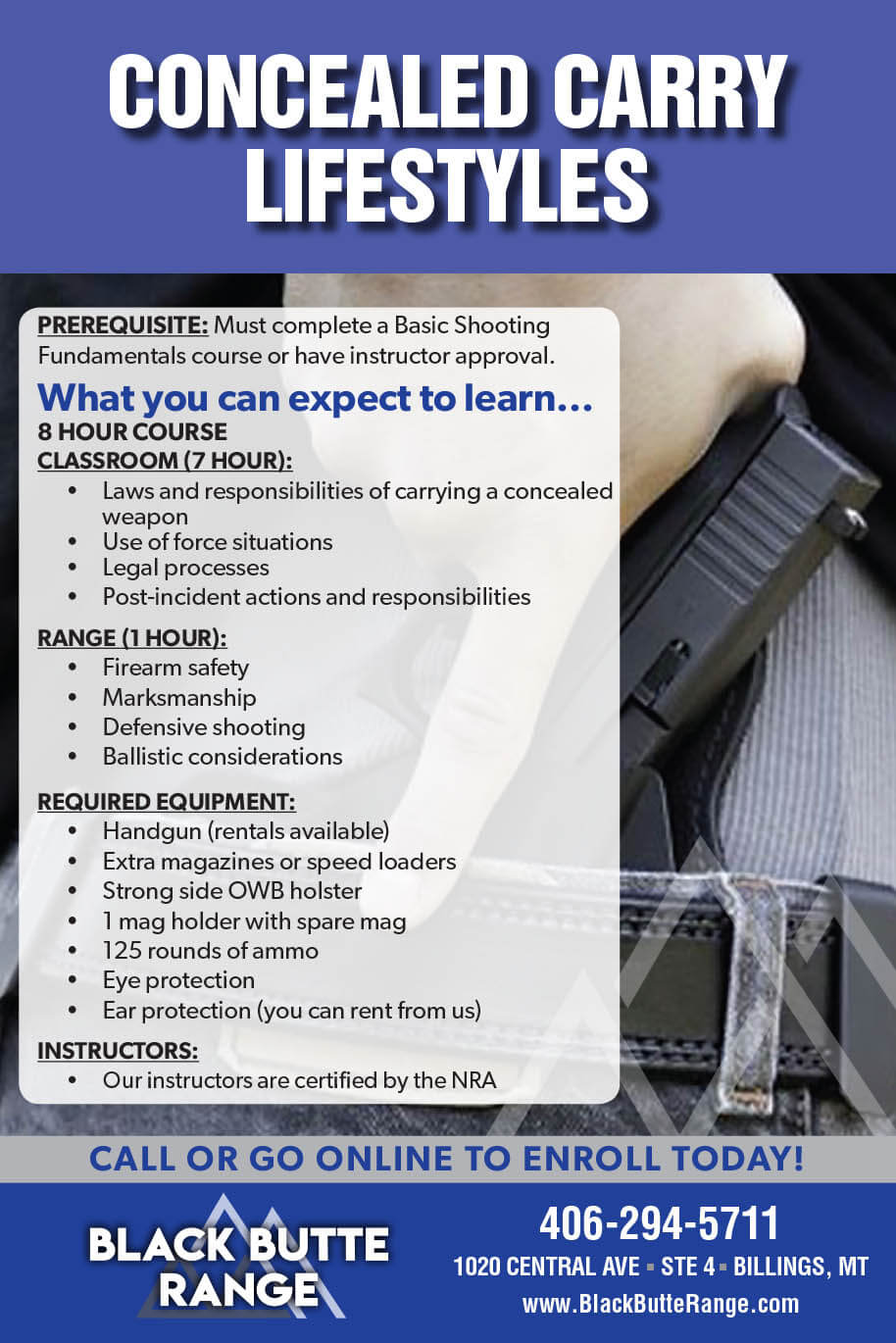 BBR Conceal Carry - Our Classes