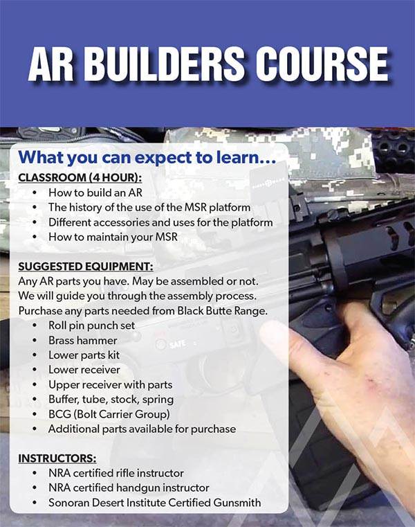 Event BBR AR Builders - AR Builder's Course