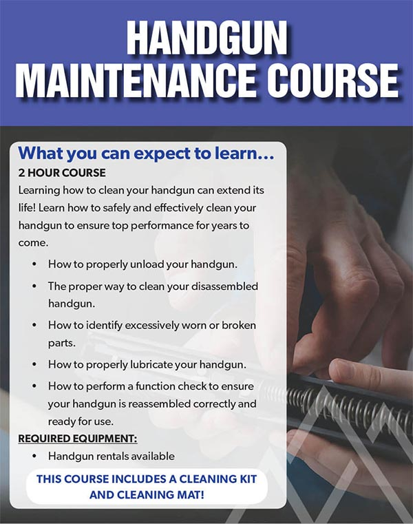 Event BBR Handgun Maintenance - Handgun Maintenance Course