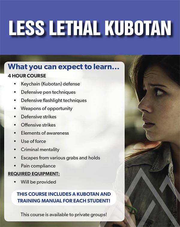 Event BBR Less Lethal Kubaton - Less Lethal Kubaton Course